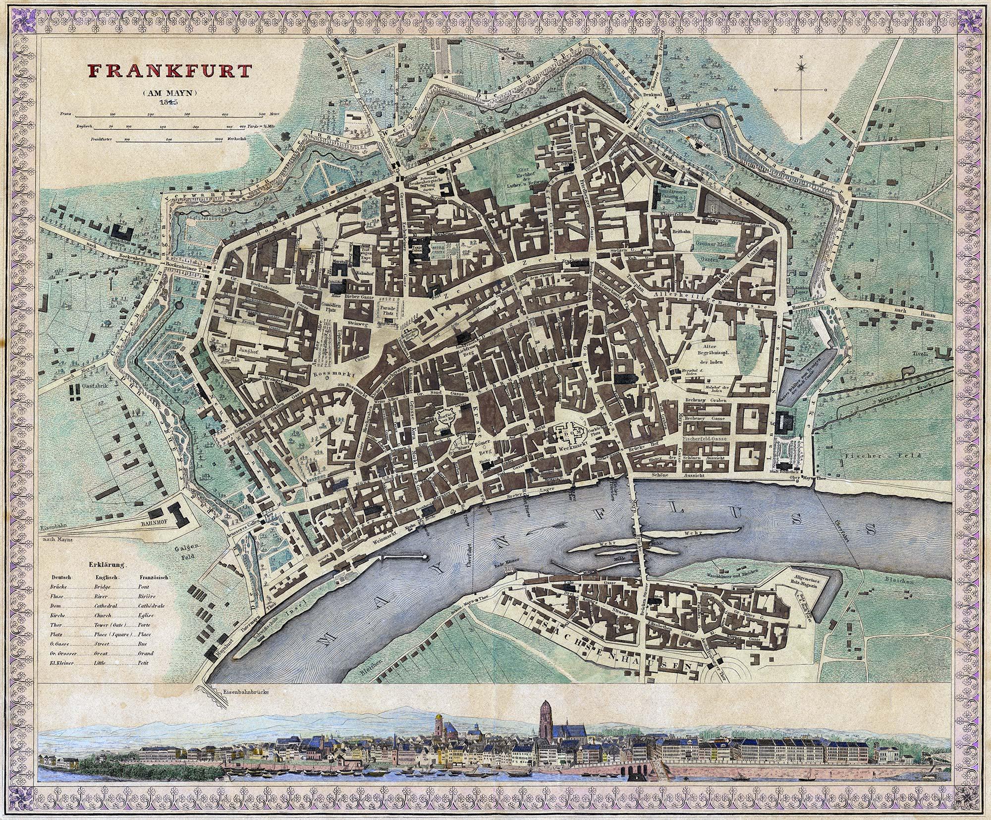 Freie Stadt Frankfurt - Frankfurt am Mayn - Frankfurt am Main 1845