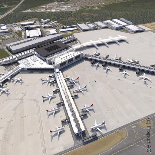 Frankfurt Terminal 3 - Flughafen Frankfurt - Entworfen von Christoph Mäckler