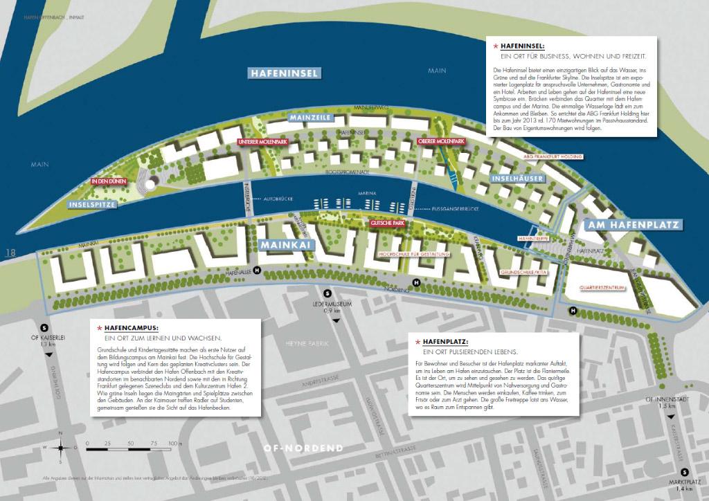 Hafen Offenbach am Main - Lageplatz Offenbacher Hafen - Stadt Offenbach