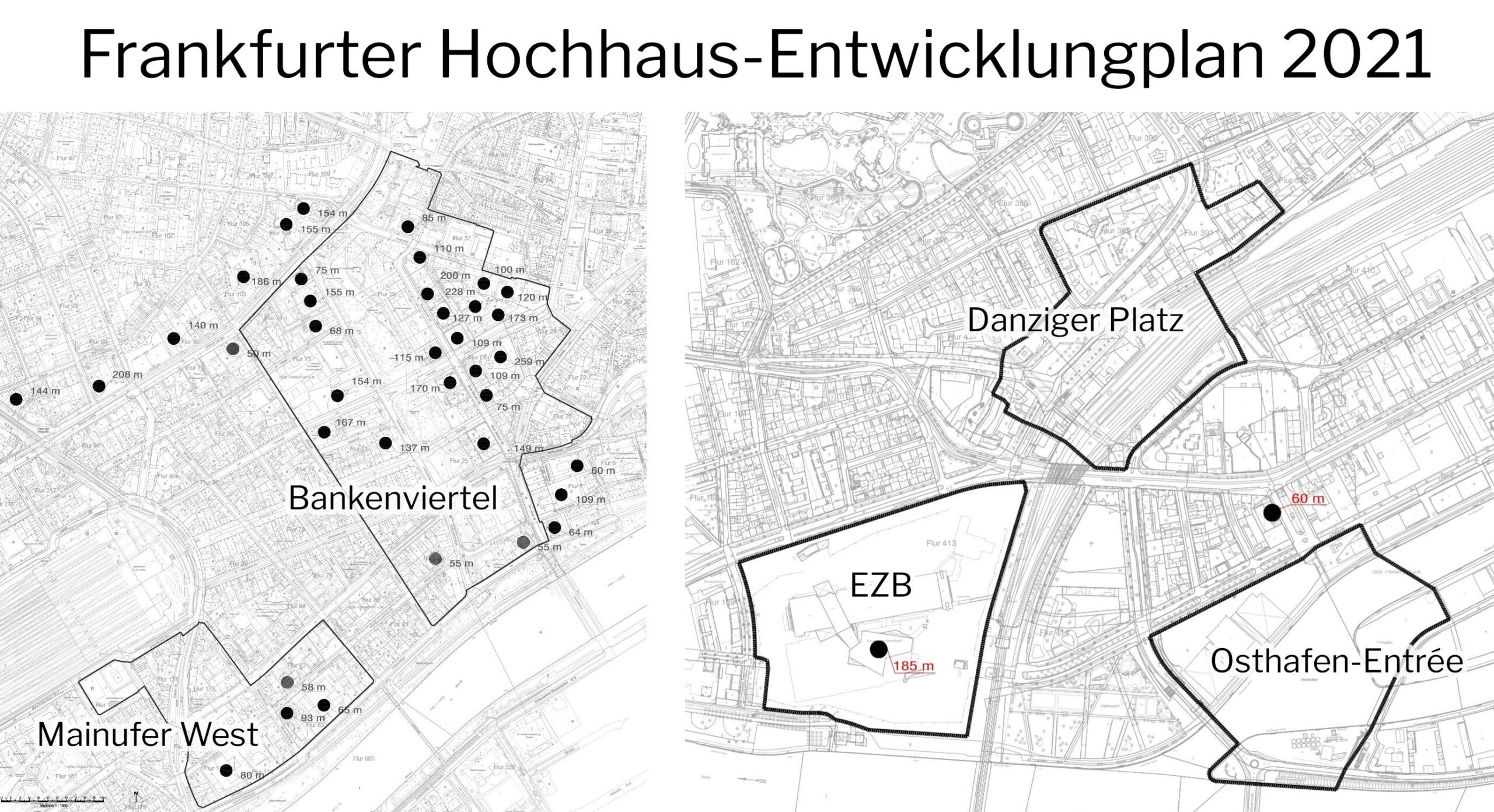 Frankfurter Hochhaus-Entwicklungsplan 2021 - HHEP 2021 - Hochhausrahmenplan 2021