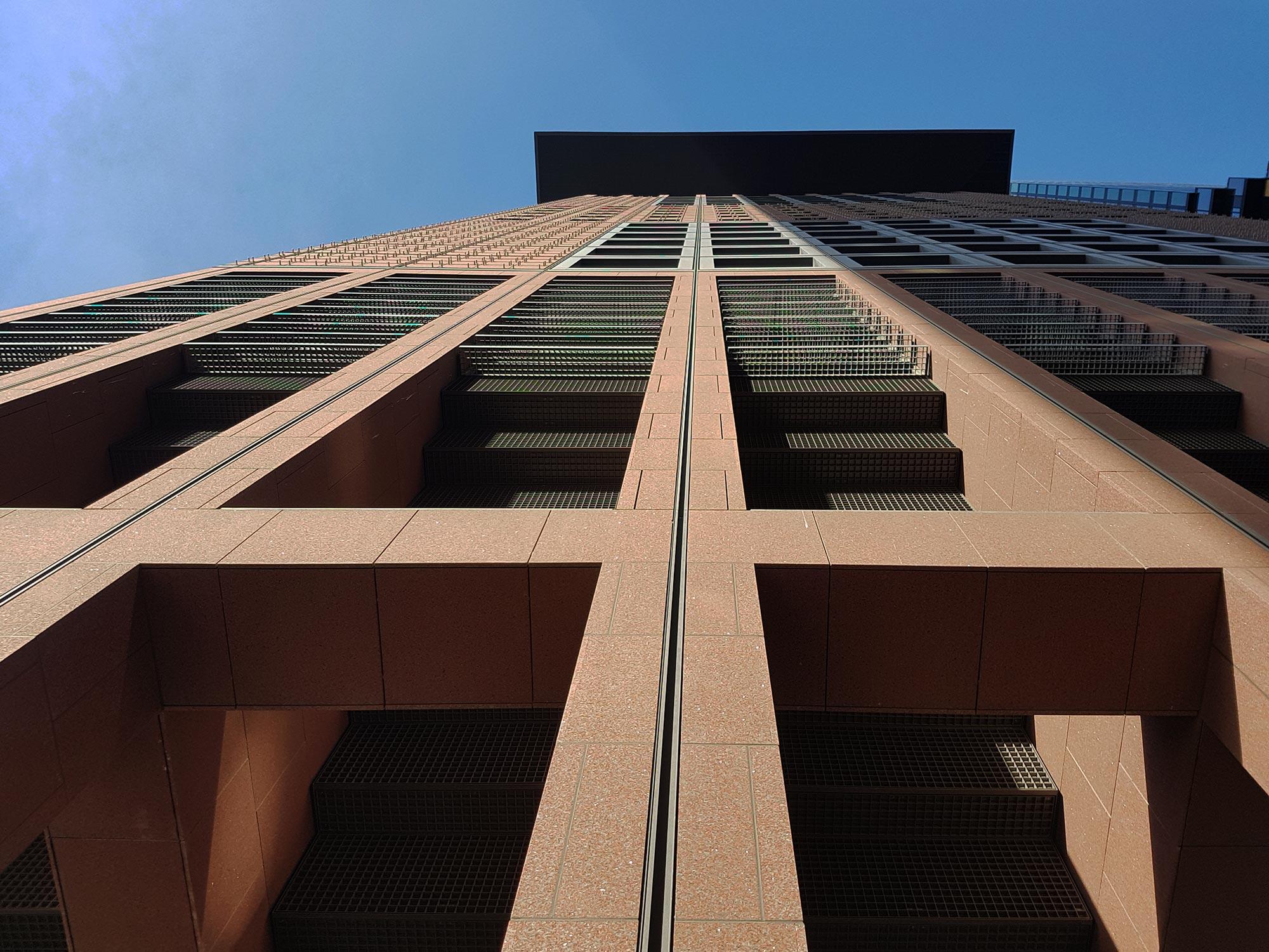 Japancenter Frankfurt - Fassade - Architektur von Ganz & Rolfes - Japanische Architektur in Deutschland - Asiatischer Einfluß