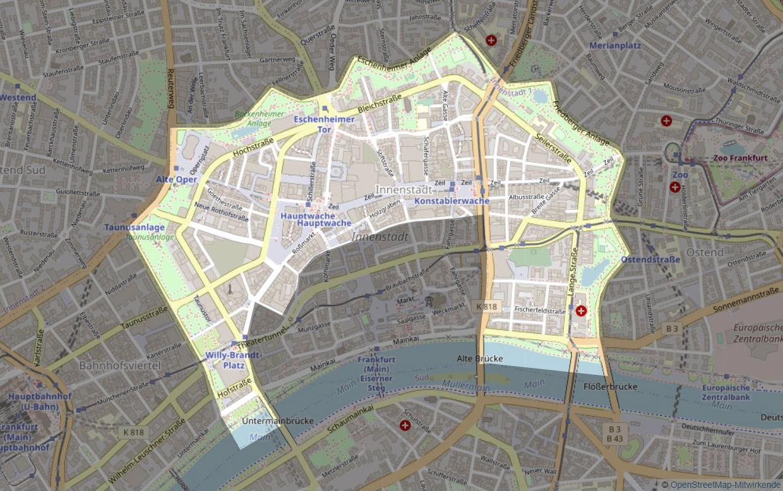 Neustadt Frankfurt - Karte - Plan