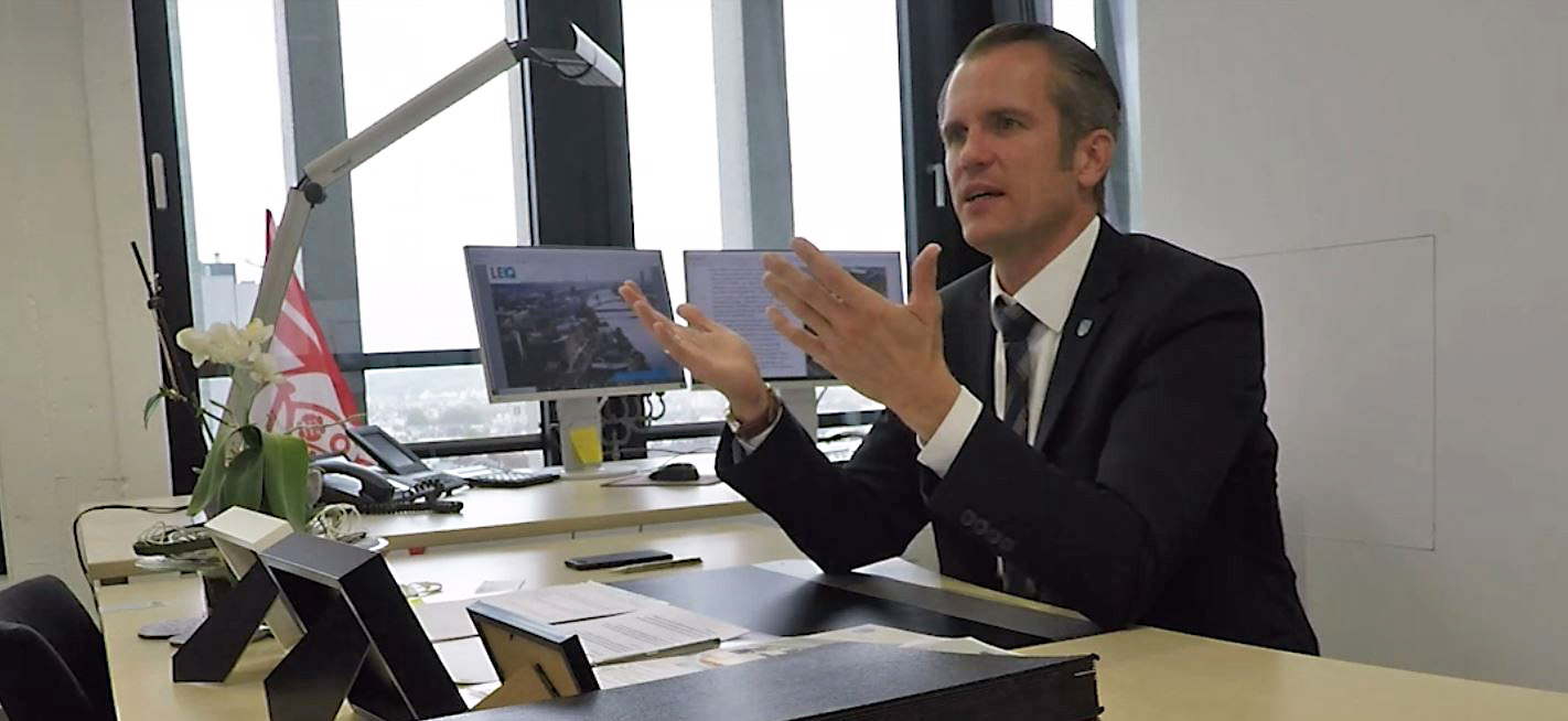 Felix Schwenke - Ober-Bürgermeister von Offenbach am Main - im Vorfeld der Kommunalwahl Offenbach 2021