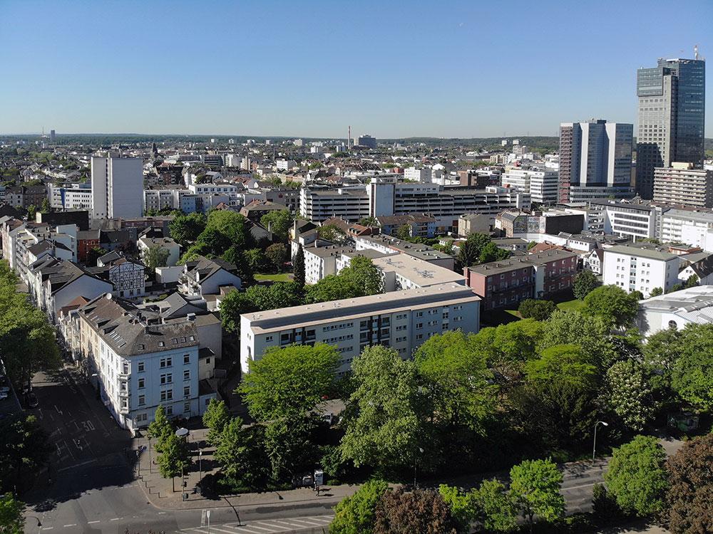 Offenbach Panorma der Innenstadt
