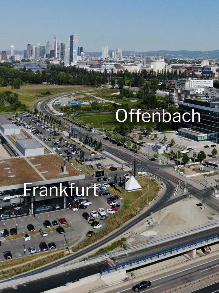 Das Kaiserleigebiet zwischen Offenbach und Frankfurt