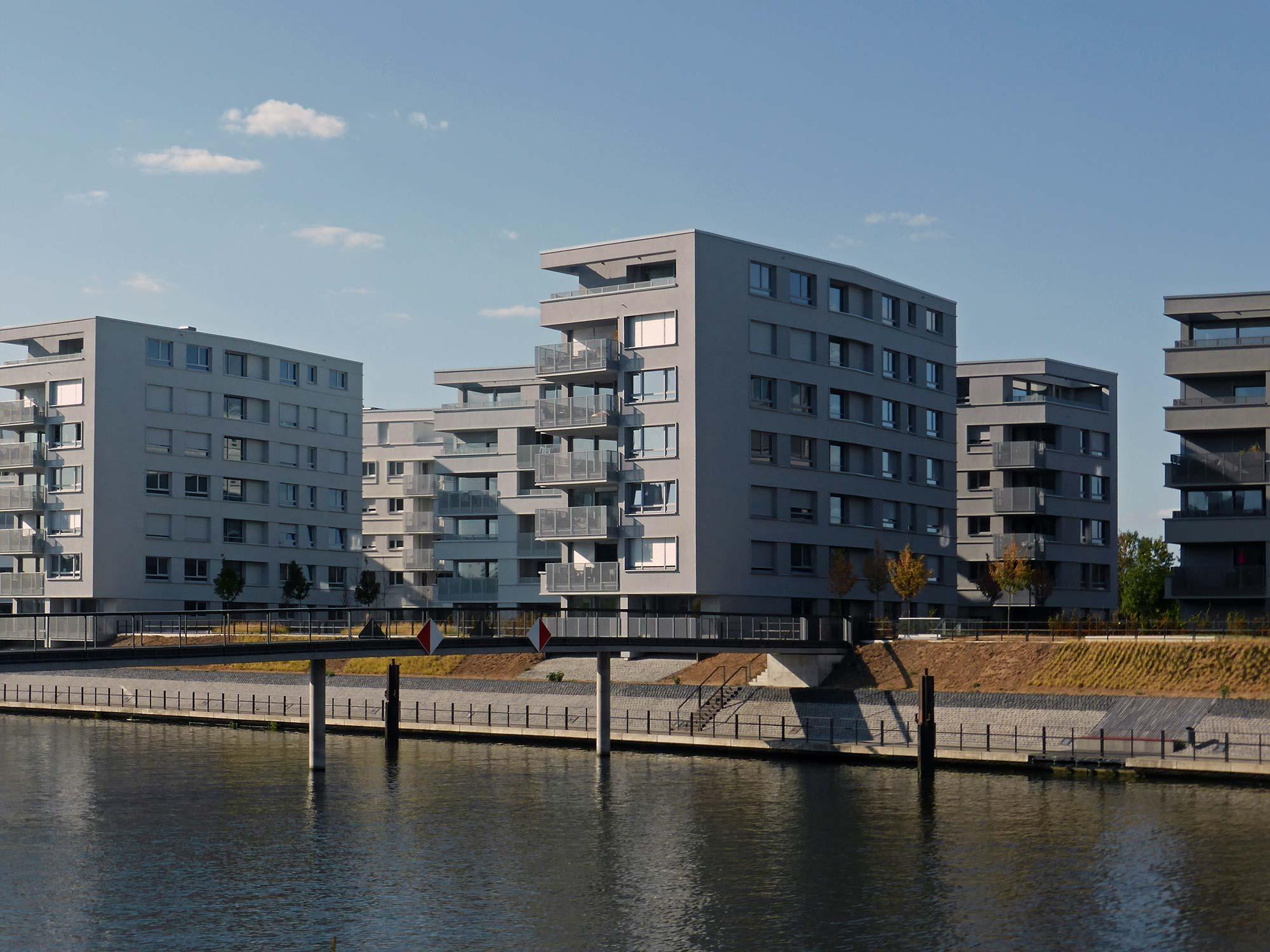 Offenbach Hafen - Hafenareal Offenbach am Main - Neuer Hafen - Wohnungen Hafen Offenbach a.M.