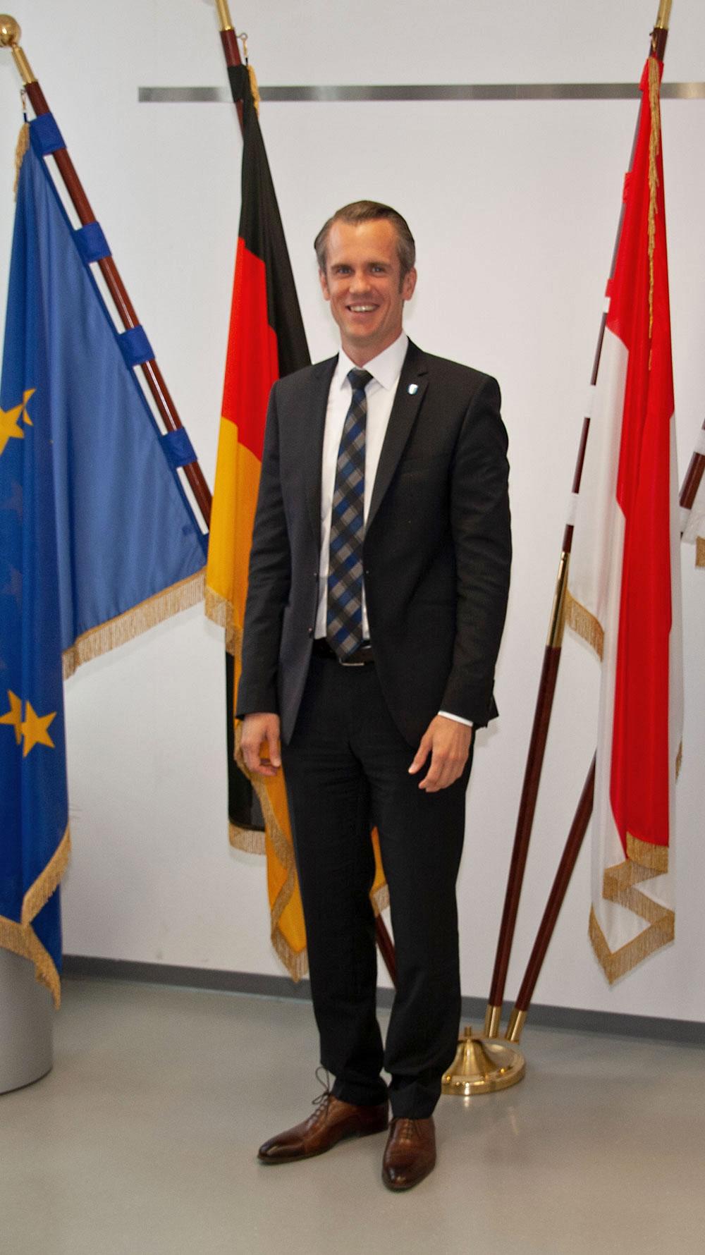 Offenbach Oberbürgermeister Dr. Felix Schwenke im Rathaus