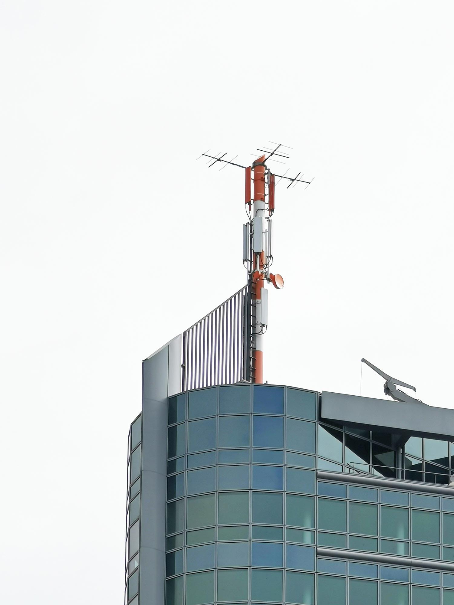 Offenbacher City Tower - Mast - Antenna - Fassade - Citytower Offenbach