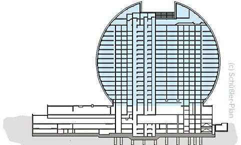 Radisson Blue Hotel Frankfurt am Main - Ansicht - Plan von Schüßler-Plan