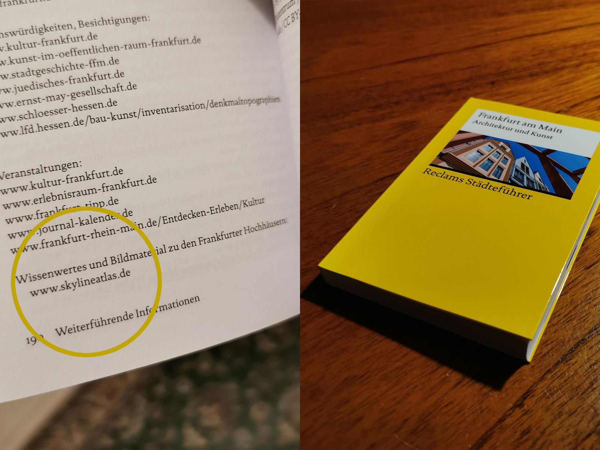 Reclams Städteführer Frankfurt am Main - Architektur und Kunst - Stadtführer - Buch - Taschenbuch - erschienen im Herbst 2020