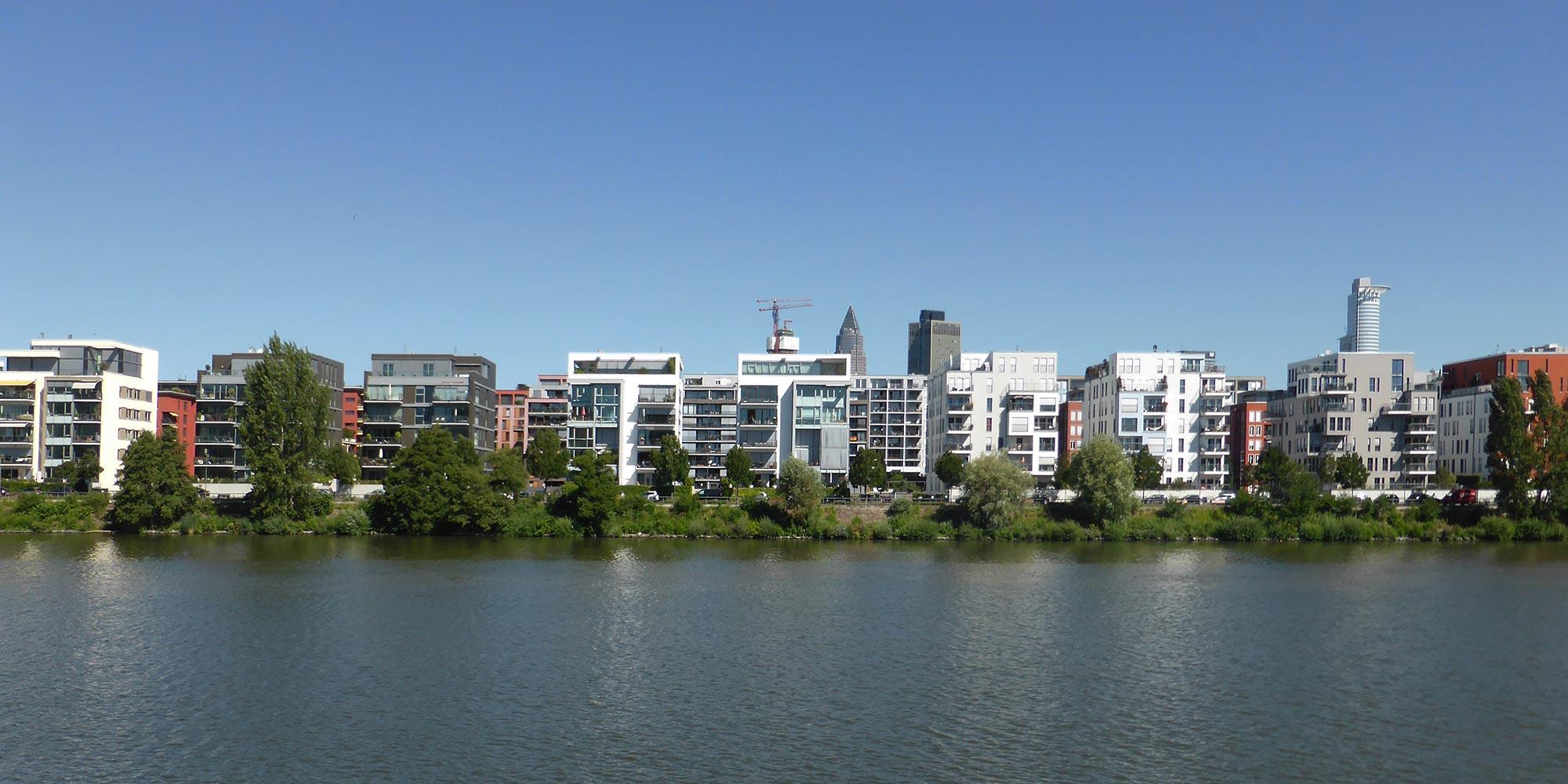 Solitäre am Westhafen Frankfurt - Wohngebäude West-Hafen Frankfurt am Main
