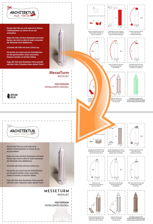 Bastelset Branding - Architekturmodell Frankfurt - Hochhausmodell