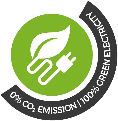 CO2-freies Rechenzentrum - 100% grüne Elektrizität