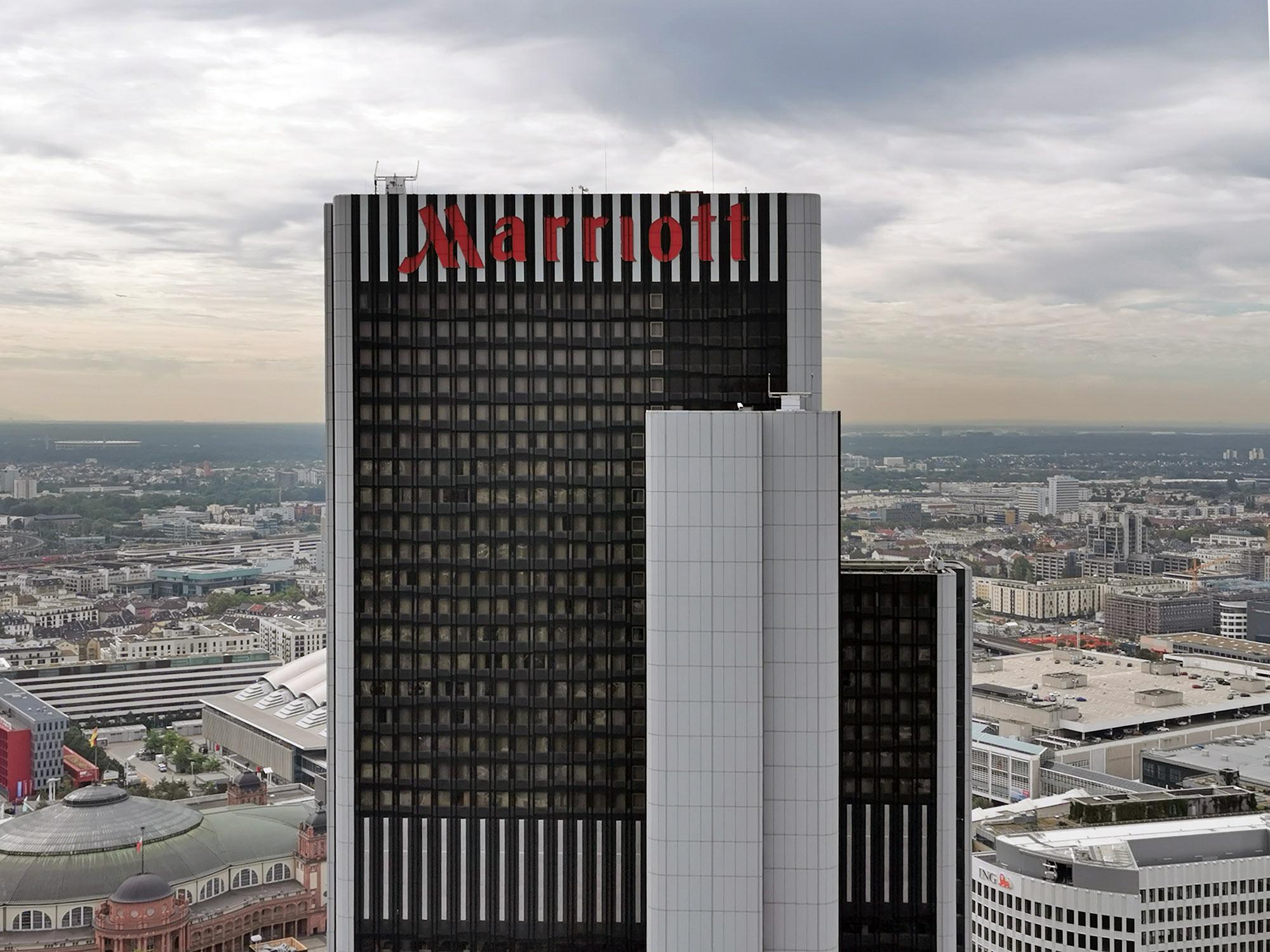 SPIE renoviert Elektrotechnik an Hochhaus Westend Gate in Frankfurt - Marriott Hotel Frankfurt