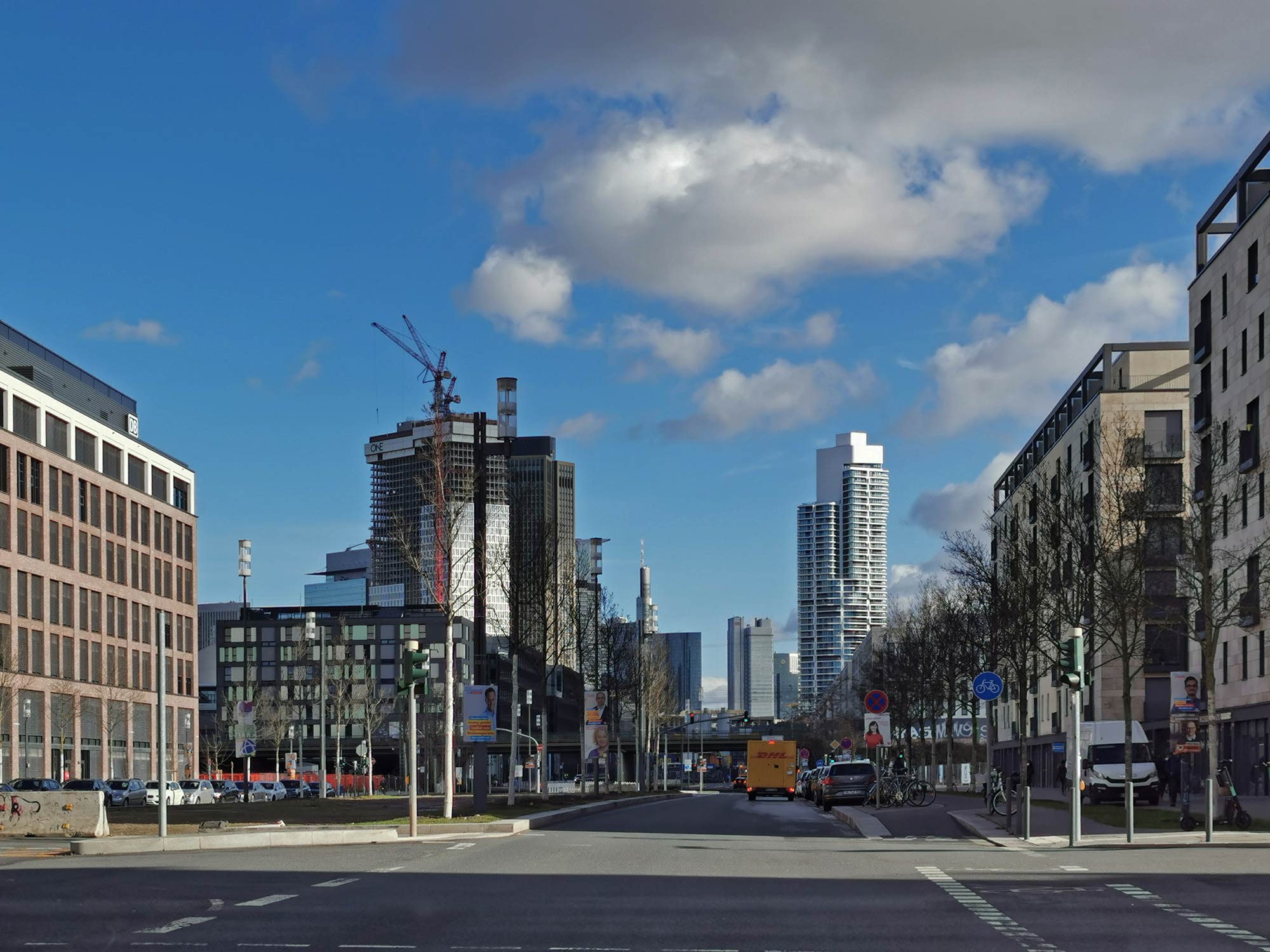 Europaviertel Frankfurt am Main - Europa Viertel FFM - im Februar 2021