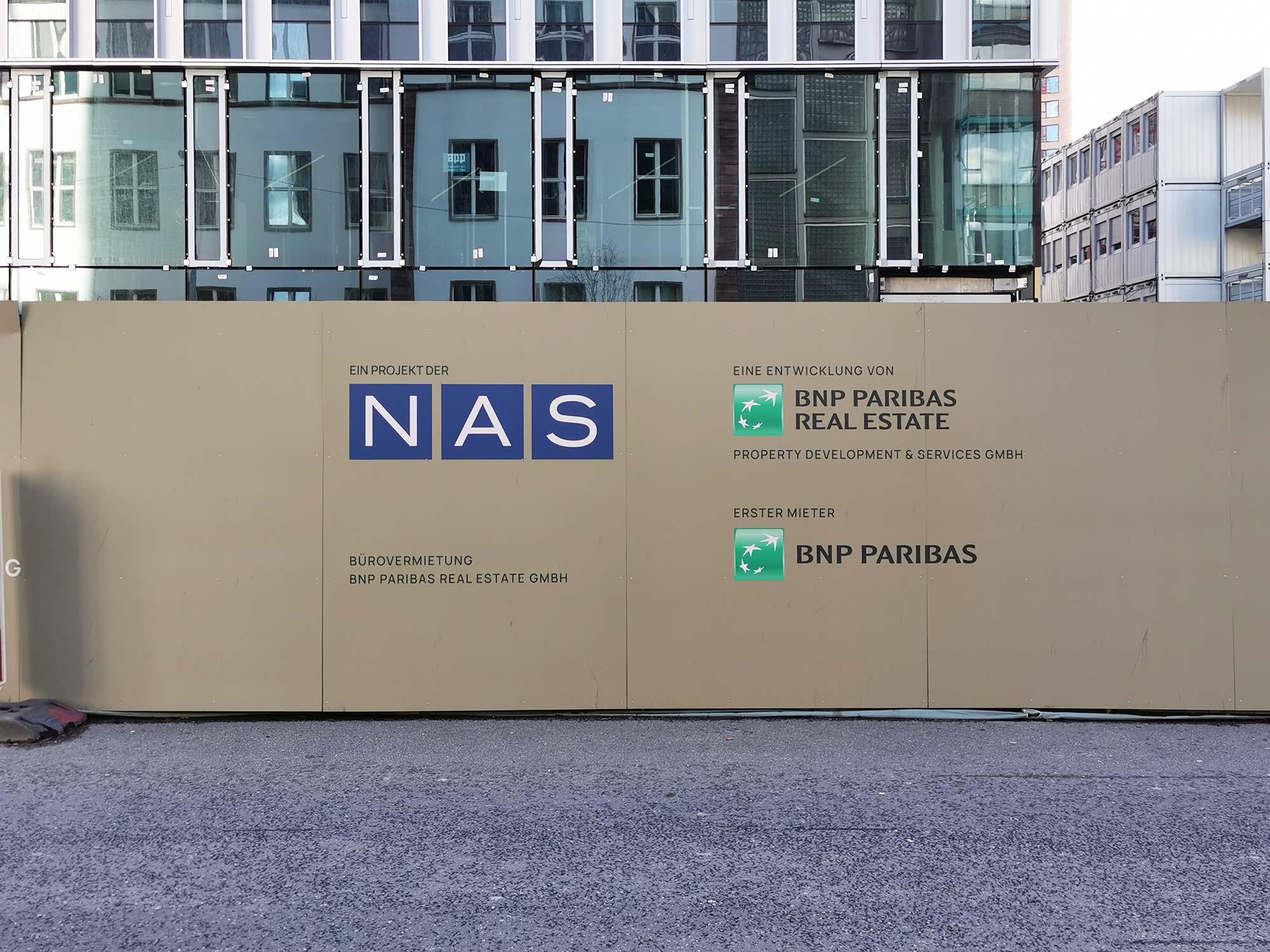 Der Senckenberg Turm ist ein Projekt der NAS Invest - Bürovermietung BNP Parisbas Real Estate GmbH