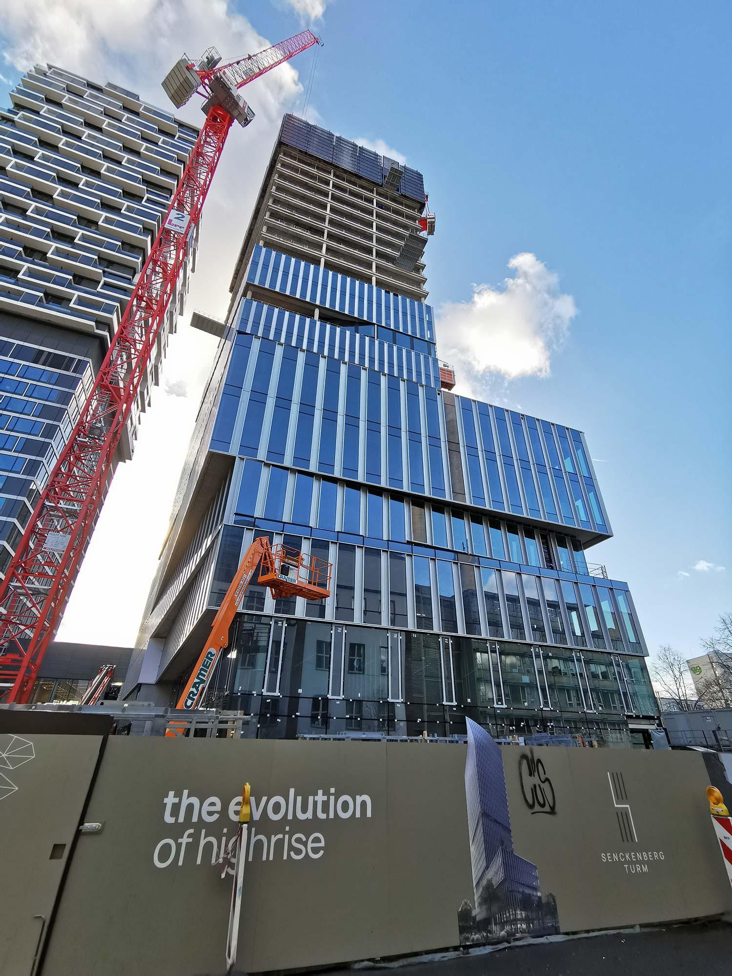 Senckenberg Tower Frankfurt - Ein NAS Invest Projekt - Baufortschritt Senckenberg Turm Februar 2021 - BNP Parisbas Deutschland