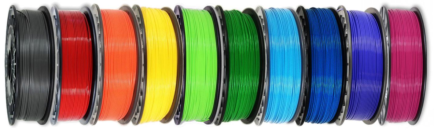 Filament Rollen, die beim Frankfurt-Projekt 3D verwendet wurden