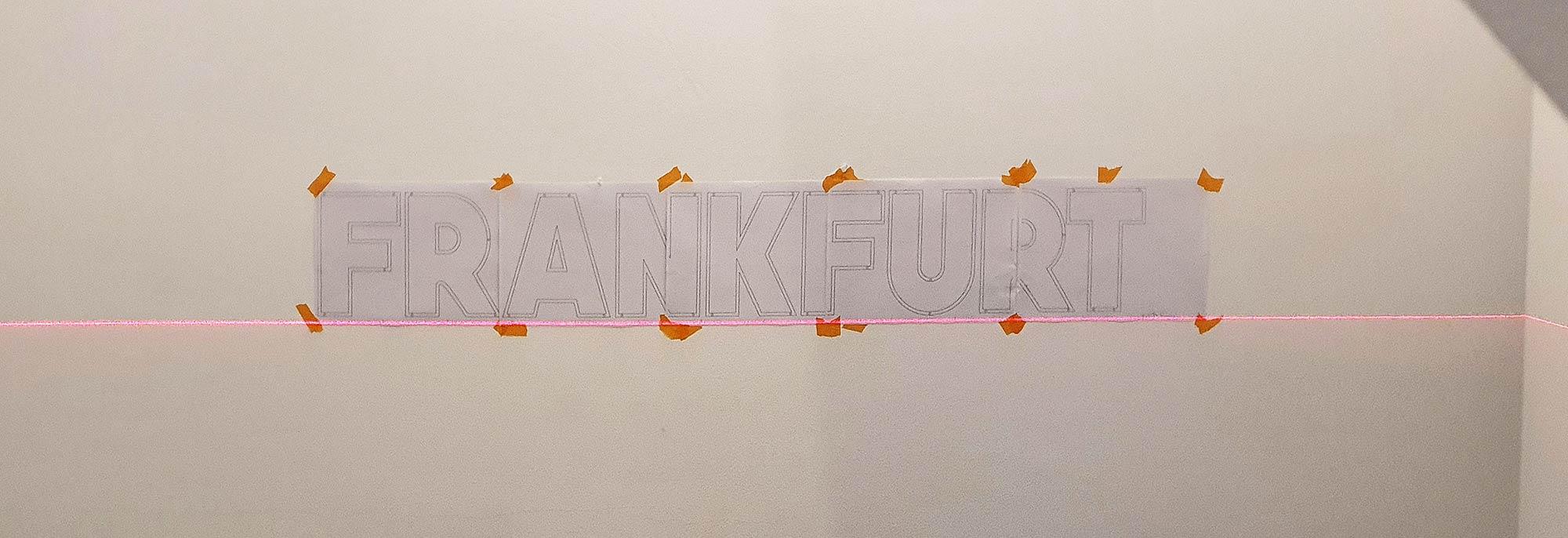 Frankfurt Schrift Montage