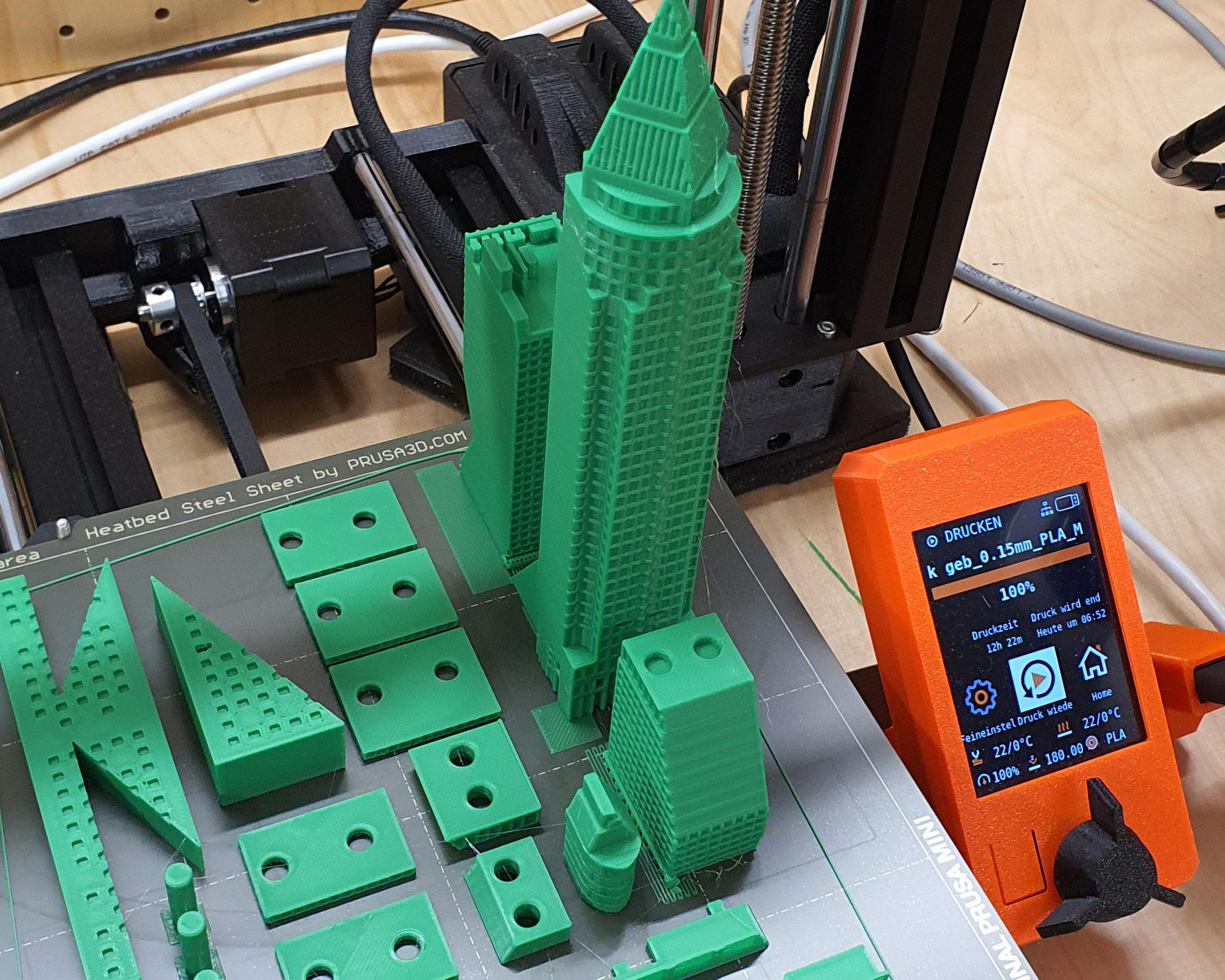 Messeturm 3D Druck Frankfurt