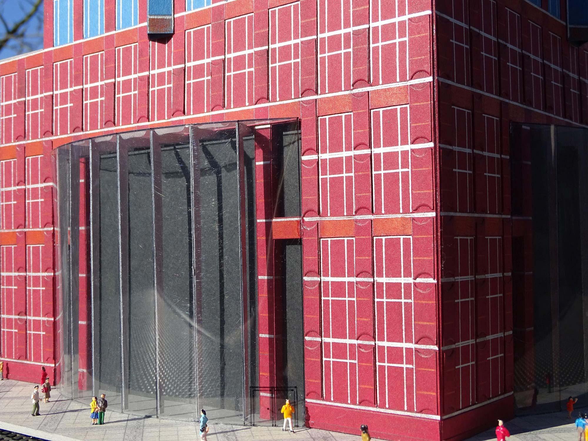 Messeturm Eingang Revitalisierung Modell