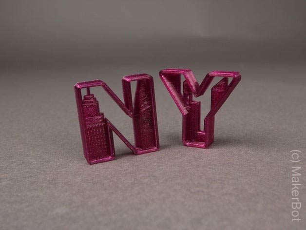 New York Letters - NY 3D Druck