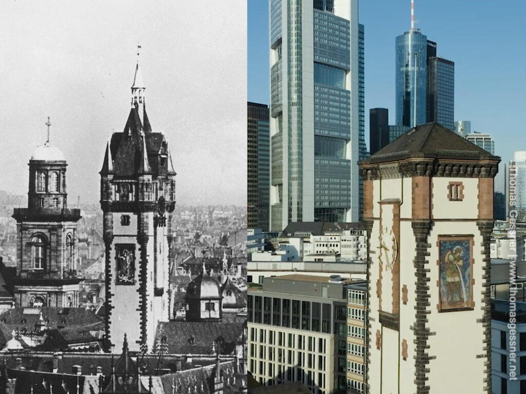 Langer Franz Frankfurt am Main - Wiederaufbau Rathaus Frankfurt - Wiederaufbau Rathausturm