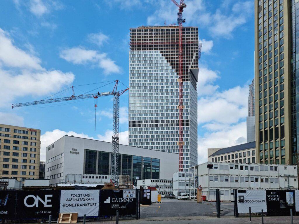 ONE Frankfurt am Main - ONE FFM - Europaviertel Frankfurt Hochhaus - Cap Europa - ONE Baustelle April 2021