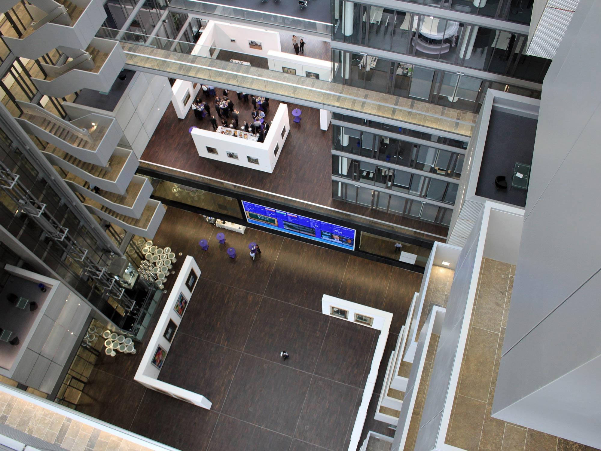 The Cube von Groß & Partner und Lang & Cie - Architektur von KSP Engel und Zimmermann - Gruppe Deutsche Börse Hauptquartier