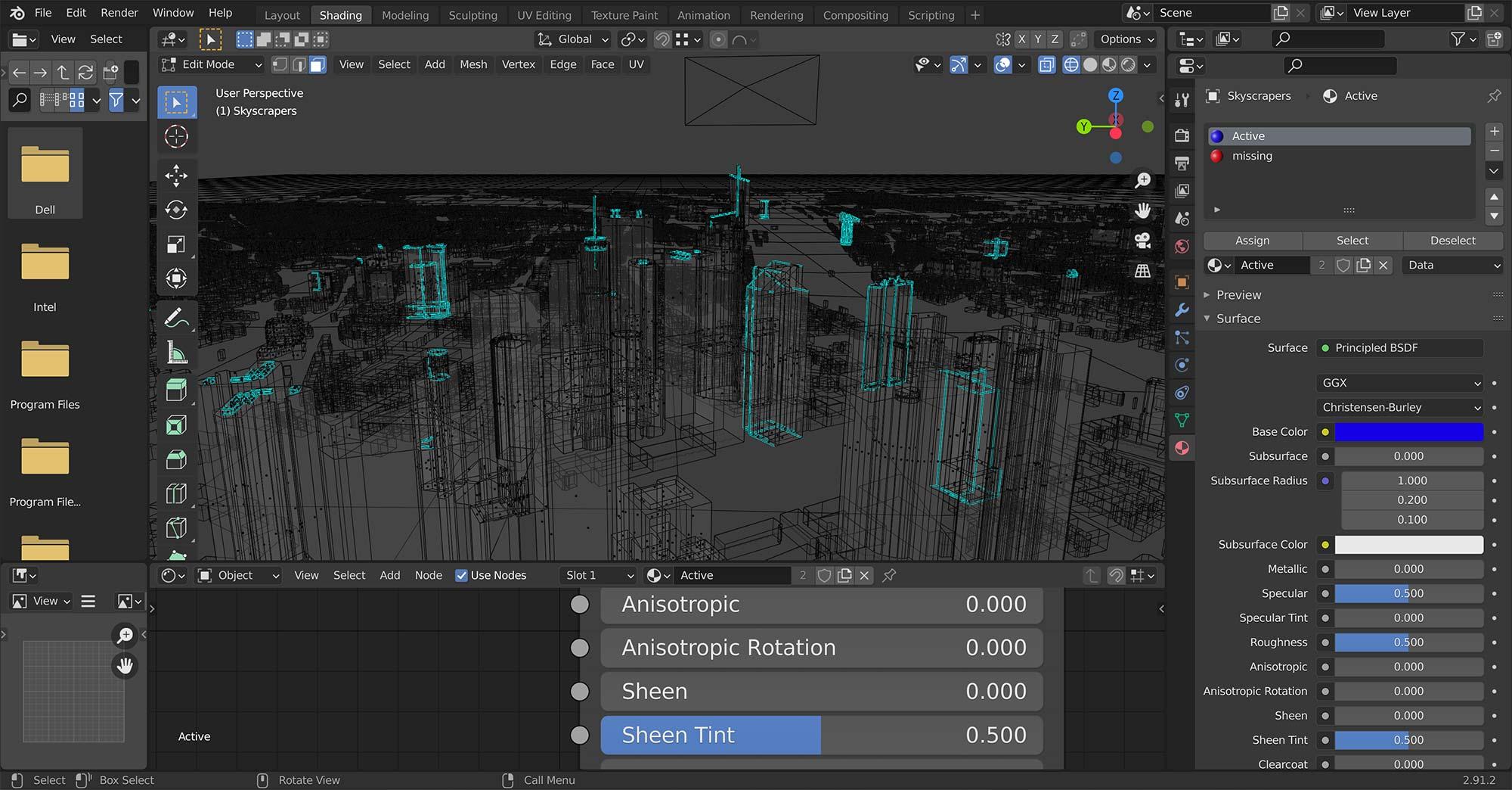 Frankfurt 3D Immobilien Design - Wireframe