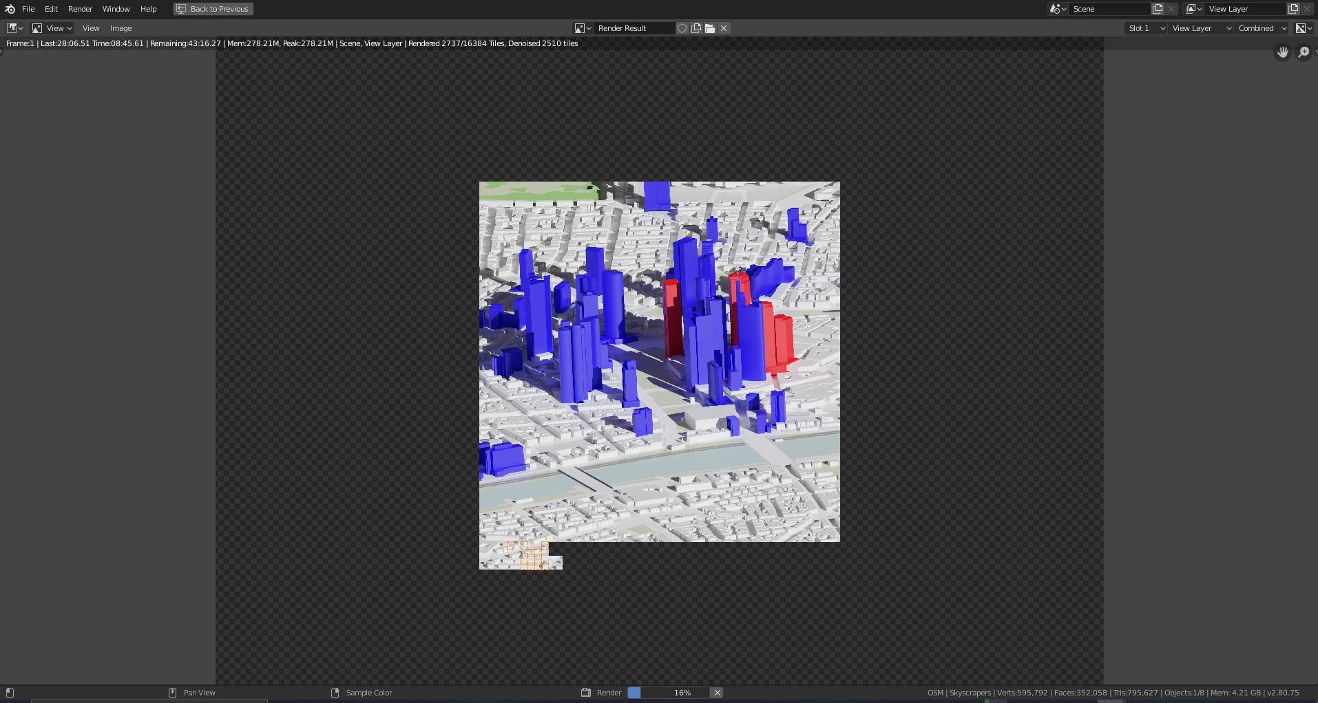 Frankfurt Wolkenkratzer geplant - 3D Rendering Frankfurt - Geplant FFM Skyline