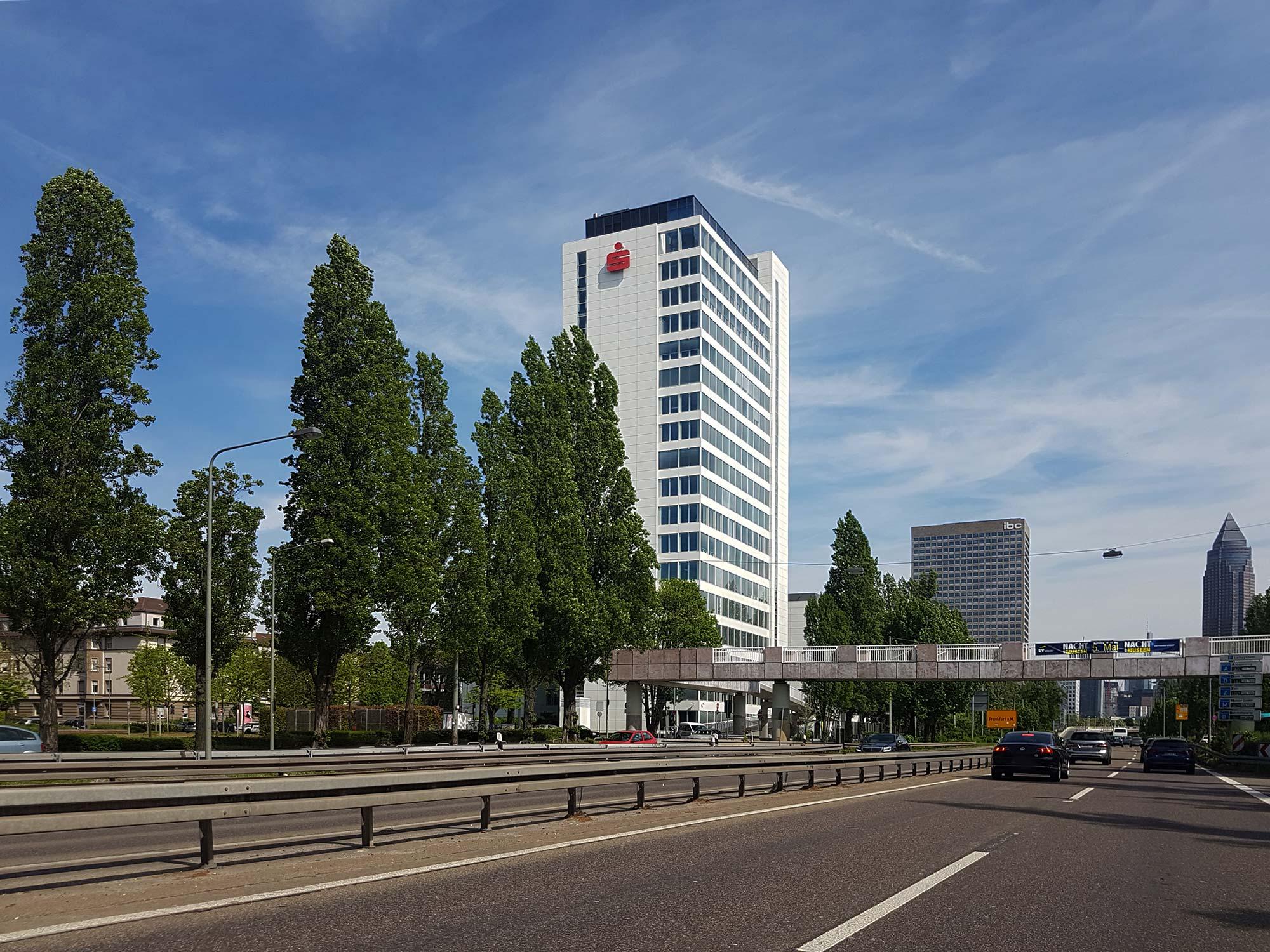 Sparkasse Finanz Informatik Frankfurt am Main - Hochhaus Hauptsitz Finanz Informatik - Theodor Heuss Allee FFM