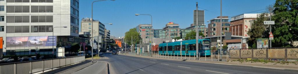 Hanauer Landstraße in Frankfurt am Main - Ausfallstraße Ostend FFM - Hanauer Landstrasse FFM