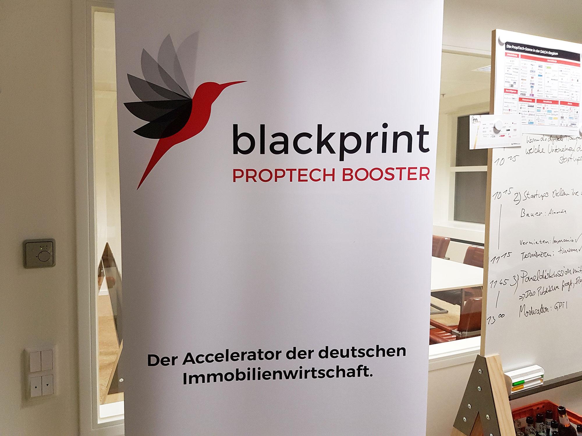 BlackPrint Proptech Booster - Proptech Frankfurt - Frankfurt Proptech - Poster - FFM Startups