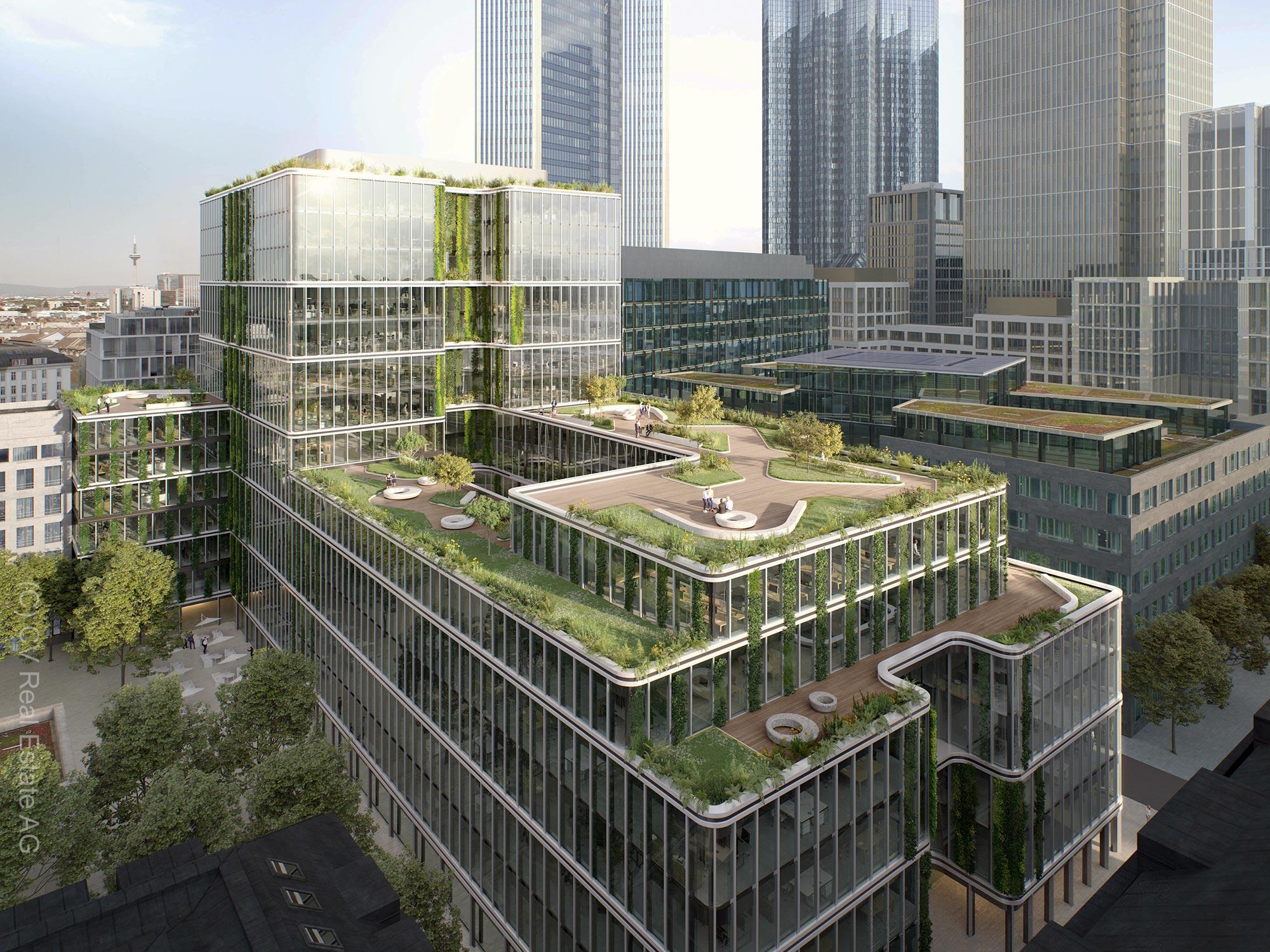 Canyon Frankfurt - CV Real Estate AG - Rendering Mainzer Landstr. 23 in Frankfurt am Main