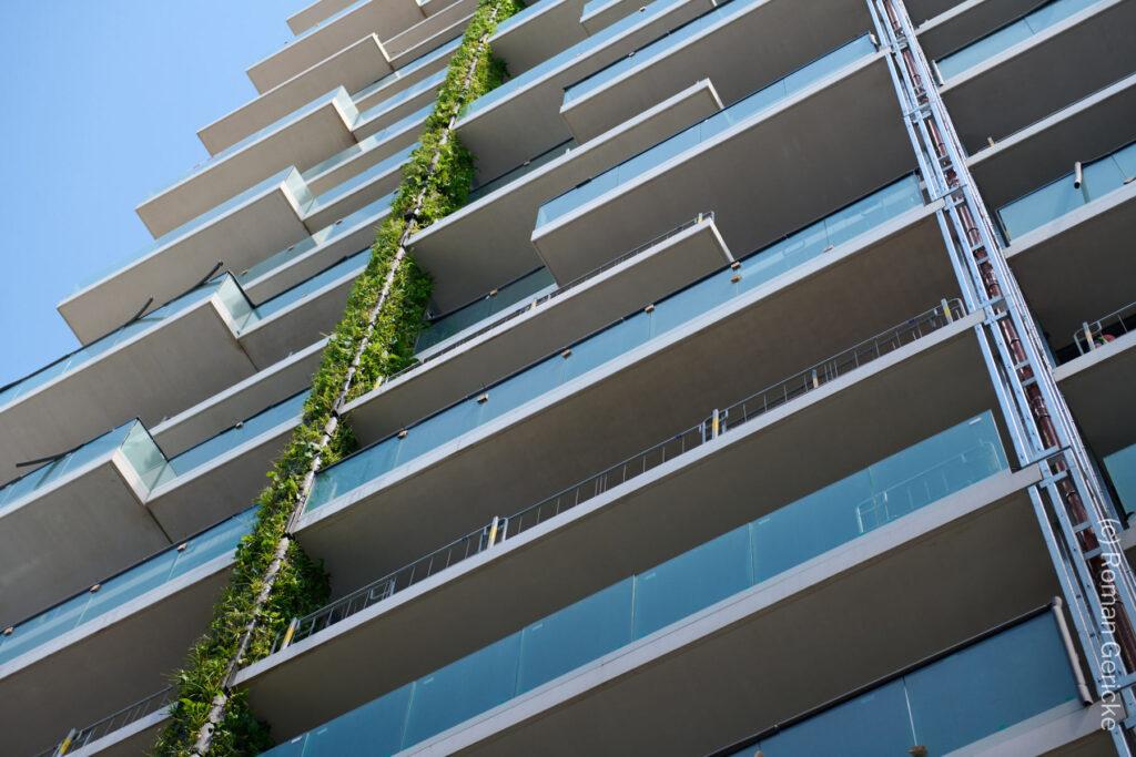 Frankfurt grüne Fassade - Begrünung - Nachhaltigkeit - Hochhaus Eden FFM