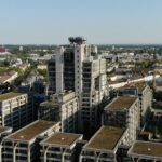 Hauptverwaltung Deutsche Bahn AG - Ehemalige Hauptverwaltung Deutsche Bahn AG - DB Tower - Deutsche Bahn Hochhaus Frankfurt Europaviertel - DB Pyramide