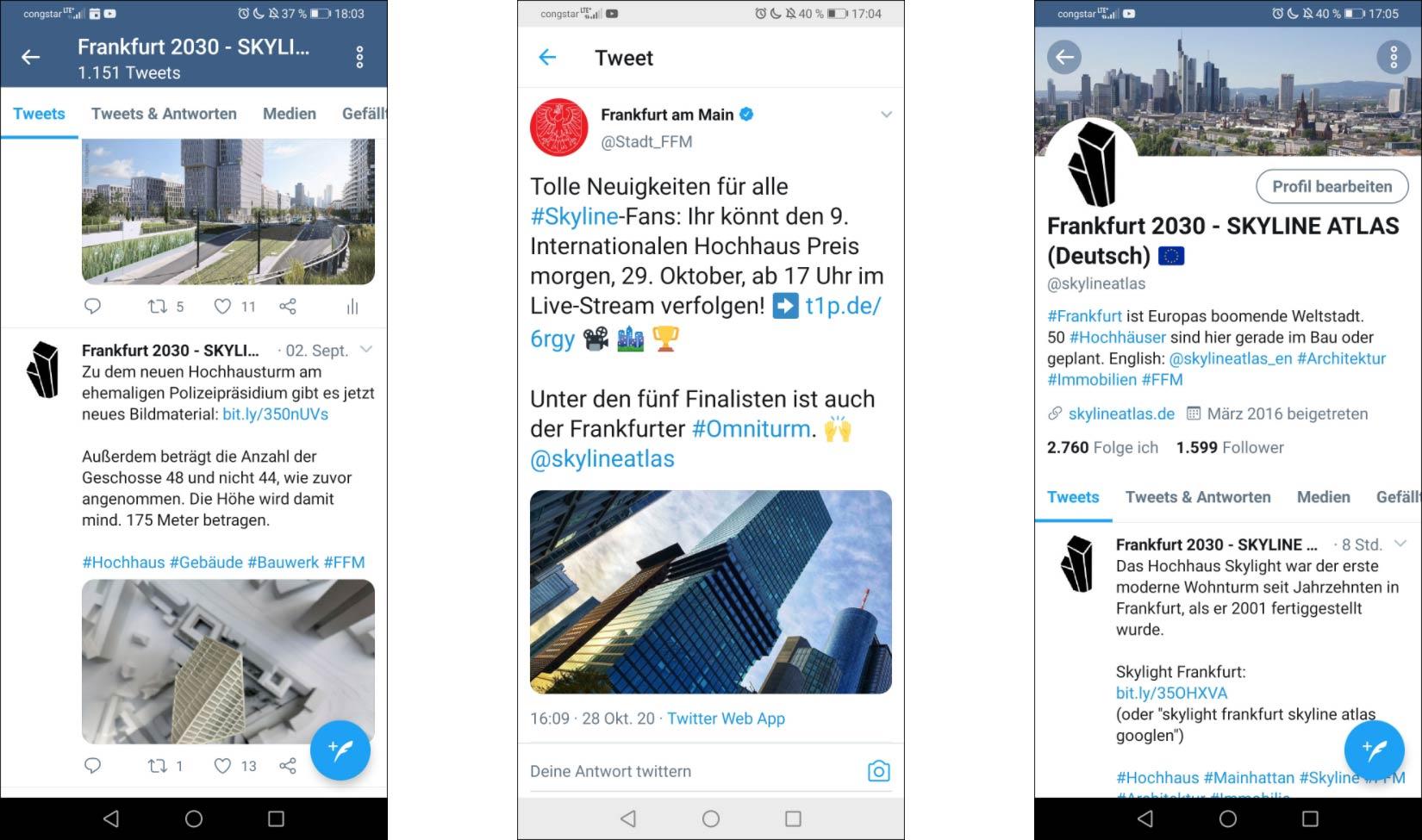 SKYLINE ATLAS Frankfurt - Social Media