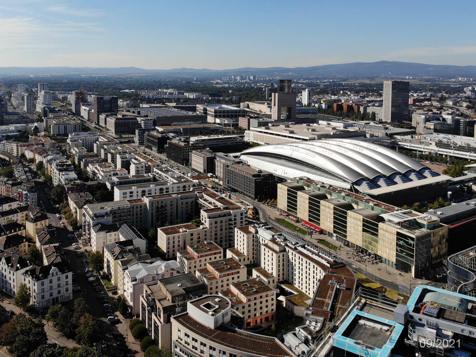 Europa-Allee in Frankfurt am Main - Europaallee FFM - Panorama - Europaviertel - September 2021