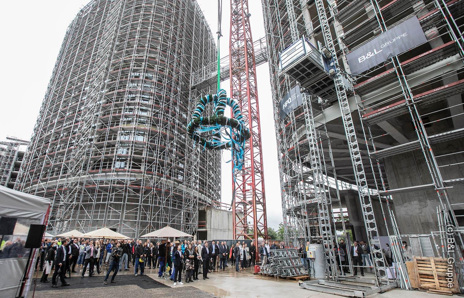 HPQ Frankfurt - Richtfest - HPQ Living - High Side Frankfurt - September 2021 - B&L Gruppe